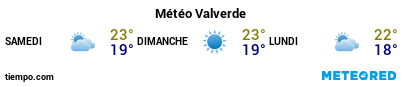 Météo au port de Île de Fer (Valverde) pour les 3 prochains jours