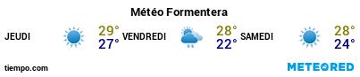 Météo au port de Formentera pour les 3 prochains jours