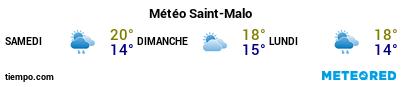 Météo au port de Saint-Malo pour les 3 prochains jours
