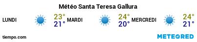 Météo au port de Santa Teresa Gallura pour les 3 prochains jours
