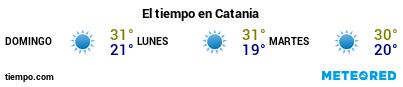 Previsió del temps en el port de Catània per als pròxims 3 dies