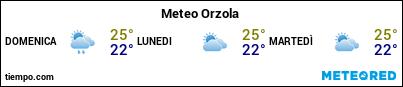 Previsioni del tempo nel porto di Lanzarote (Orzola) per i prossimi 3 giorni